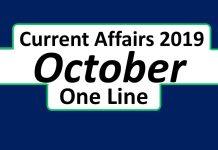 october month current affairs 2019