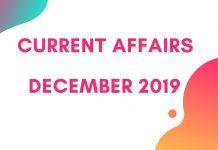 December 2nd week current affairs 2019