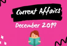 December Current Affairs 2019